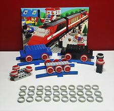 LEGO 7722-Haftreifen LEGO-30 Stück, grau- Eisenbahn-12V-7722