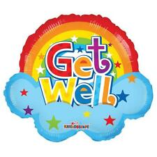 """18"""" GET WELL SOON REST UP POORLY SICK HELIUM FOIL BALLOON RAINBOW 19608"""