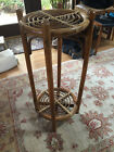 Unique Vintage Bamboo Stand / Table - collapsible!
