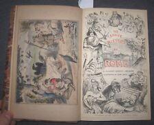 1870 The Comic History of Rome, Divertente storia di Roma,  belle illustrazioni