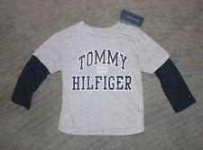 Tommy Hilfiger Boys Long Sleeve Gray & Black T-Shirt - Size 6 - NWT