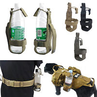Outdoor Tactical Hiking Molle Water Bottle Holder Belt Carrier Pouch Hunting Bag