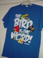 Angry Birds Blue T-Shirt The Bird Is The Word Size Large