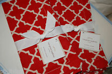 POTTERY BARN ROZ PRINTS DINING NAPKINS TRUE RED PARTY DECOR CLOTH FABRIC