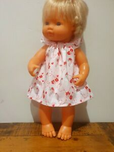 Miniland Doll Clothes Christmas dress 38cm unicorn poinsettia