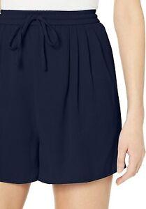 J Crew Mercantile NWT Women's Tie Pull On Shorts Navy Elastic Waist Size XS