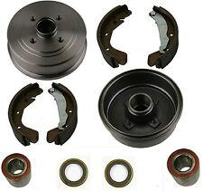 Bremsen Set Bremstrommel + Backen + Radlager + ABS Ringe HINTEN für Opel Corsa C
