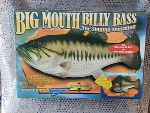 "Vintage Big Mouth Billy Bass / The Singing Sesation 1998 "". NEW IN ORIGINAL BOX!"