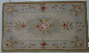 1.6' X 2.7' Small Aubusson Rug French Market Collection  #127