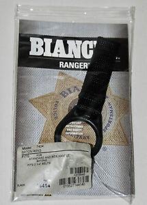 New! Bianchi Ranger 7404 Baton Ring Holder, Standard/Side Handle Batons- Black