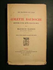Colette Baudoche ... - Barrés, Maurice (EO num PLON 1923)