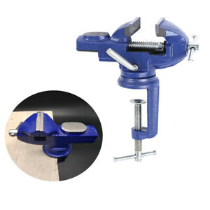 Portable Table Vise Mechanic Bench Anvil Jaw Vice 360° Swivel Clamp Hand Tool UK