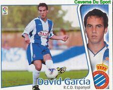 DAVID GARCIA ESPANA RCD.ESPANYOL CROMO STICKER LIGA ESTE 2005 PANINI