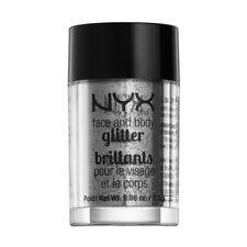 NYX Cosmetics Face Body Glitter Silver Brand New