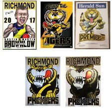 2017 Richmond Tigers Weg Wegart Premiers Poster