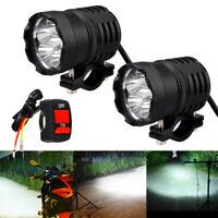 2×60W 12V Motorrad LED Lampe Zusatzscheinwerfer Scheinwerfer Nebelscheinwerfer