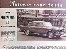 BORGWARD 2.3 with AIR SUSPENSION -1960 - Road Test removed from AUTOCAR