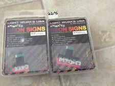 O- Gauge Light Works Usa. Animated Neon Sign. Cafe Total 2. Nip