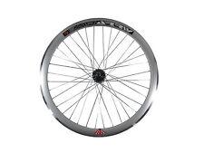 Deep V 43mm Rear Silver Wheel for Fixie, Fixed Gear, Track, Single Speed Bike