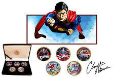 Christopher Reeve-Superman de las películas monedas de oro plateado Kennedy medio dólar