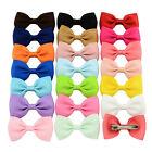 20Pcs Hair Bows Band Boutique Alligator Clip Grosgrain Ribbon For Girl Baby Kids