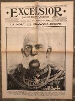N172 La Une Du Journal Excelsior 23 Novembre 1916