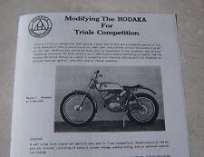 Modifying The Hodaka For Trials  brochure Pabatco 1971