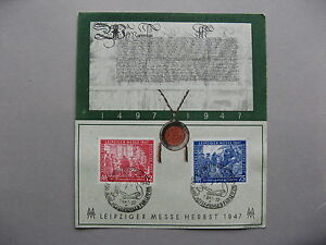 GERMANY ALL.OCC., spec issue Liepziger Herbstmesse 1947