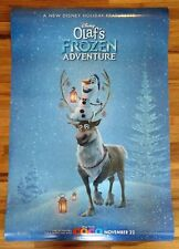 """Disney Olaf's Frozen Adventure Official Movie Poster 2-Sided New Mint  27""""x40"""""""