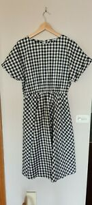 Feather and noise Gingham dress