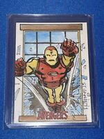 Marvel Avengers: hand-drawn artist sketch card - Iron Man