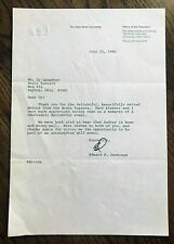 Edward H. Jennings. Ohio State Univ Pres, Letter to Cy Laughter, Bogie Busters