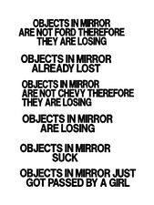 2x Objects in mirror funny decal/sticker PICK 2!!!