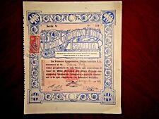 Primera Cooperativa Mutua Israelita 1937  share certificate  Judaica Uruguay
