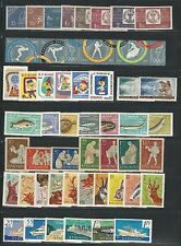 Romania: Lot of 17 complete sets, MNH + used, different thematics EBRU008
