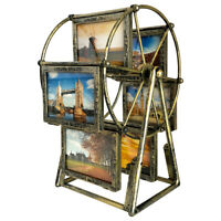 Rotating Ferris Wheel Picture Frame, Shows for 12pcs Photos-Vintage Retro Decor