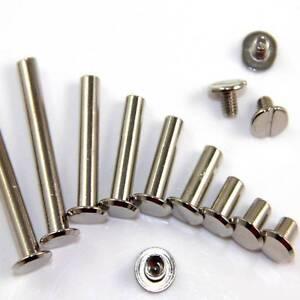 5mm CHICAGO SCREWS 6,8,10,15,20,25,30,40 & 50mm BINDING NICKEL PLATED  SCRAPBOOK