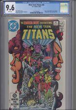 New Teen Titans #24 CGC 9.6 1982 DC Omega Men & Superman App Camelot 3000 Insert