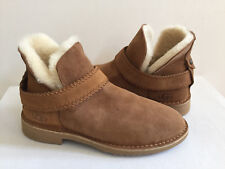 UGG MCKAY CHESTNUT SUEDE SHEARLING ANKLE BOOTS US 10 / EU 41 / UK 8 - NEW