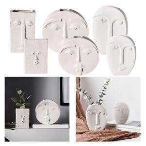Creative White Decorative Ceramic Flower Vase Pot Modern Design Decoration