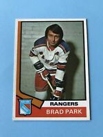 Brad Park 1974-75 O-Pee-Chee OPC Hockey Card #50 Rangers Bruins