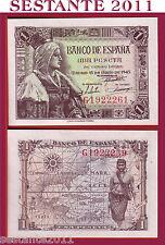 SPAIN / SPAGNA - 1  PESETA  15.6. 1945   -  P  128    -   FDS / UNC