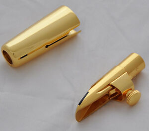 Top Metal Saxophone Mouthpiece For Bb Soprano Sax Gold plated MPC size 5-9