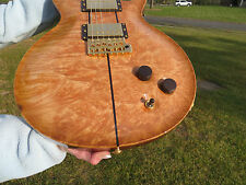 Prs Private Stock Santana 3 One Piece Burl Maple Top Rosewood Neck Gold Birds