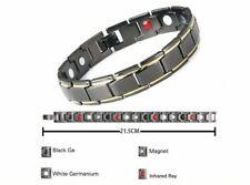 Magnétique Ion Négatif énergie Bracelet 4 en 1 réglable bracelet noir HS1311