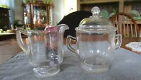 INDIANA TUMBLER & GOBLET/GREENTOWN #137 COVERED SUGAR AND CREAMER SET