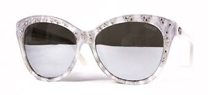 Guess Sunglasses GU 7437 24C White Grey Silver with Rhinestones Msrp $145.00