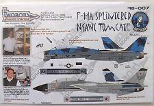 "1/48 Two Bobs Decals F-14A ""SPLINTERED NSAWC TOMCAT"" #48-007 OOP/RARE/VHTF"