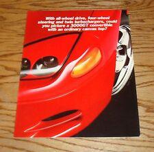 Original 1995 Mitsubishi 3000GT Spyder Foldout Sales Brochure 95