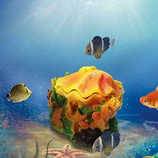 Shell & Air Stone Aquarium Tank Fish Ornament Shell Bubbler Bubbling Decor Pump